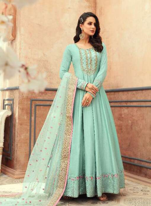 Floor Touch Anarkali Dress Available Online in Canada USA UK France Australia New Zealand France Mauritius